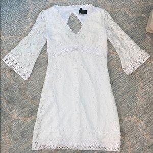 Gorgeous White Lace Laundry Dress Size 0P